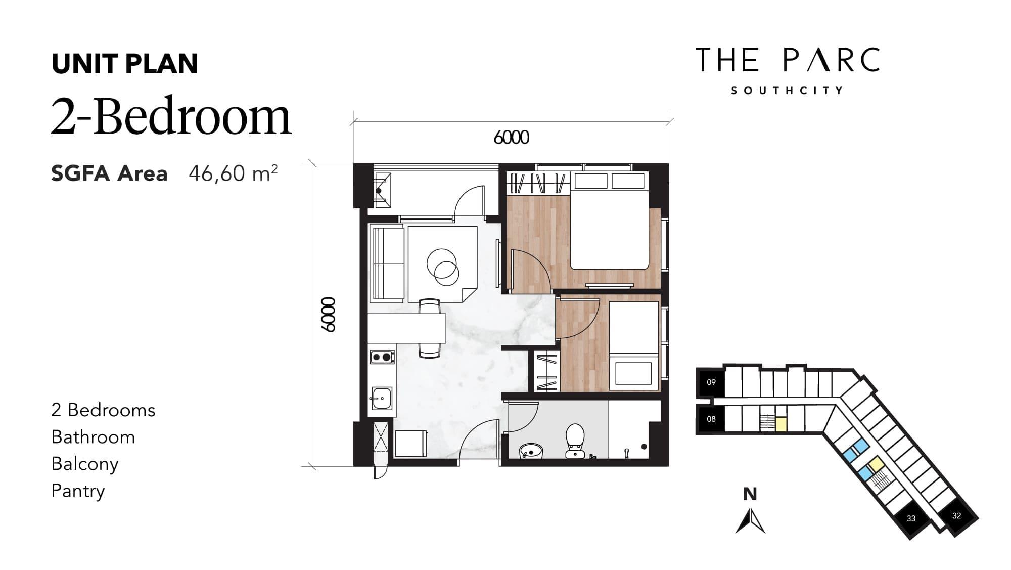 2 Bedroom Denah